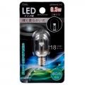 LEDナツメ球 E12/0.5W 昼白色 [品番]07-6478