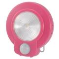 LEDセンサーライト ピンク [品番]07-9756