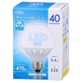 LED電球 ボール形 40形相当 E26 昼光色 [品番]06-1612
