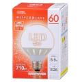 広配光/密閉器具対応 LEDボール球 E26/8.9W 電球色 [品番]06-1613