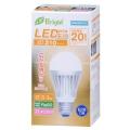 LED電球 20形相当 E26 電球色 広配光 密閉器具対応 [品番]06-2927