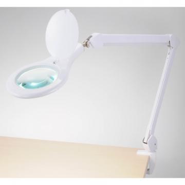 ルーペ付LEDアームライト エルズーム クランプタイプ [品番]07-6381