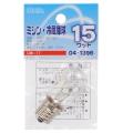 ミシン・冷蔵庫球 T22型 E17/15W クリア [品番]04-1396
