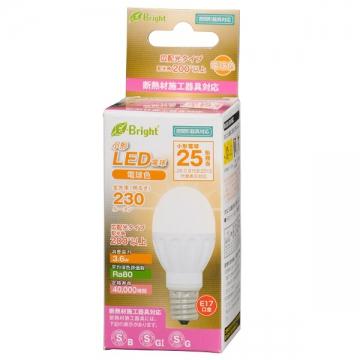 LED電球 小形 25W相当 E17 電球色 [品番]06-2872