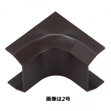 モール用パーツ 入隅 2号 チョコ [品番]09-2227