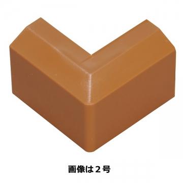 モール用パーツ 出隅 1号 茶 [品番]09-2238