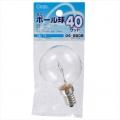 ミニボール球 G50型 E14/40W クリア [品番]04-9808