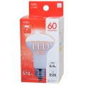 広配光 密閉器具対応 レフランプタイプ LED電球 E26/6W 電球色 [品番]06-0205