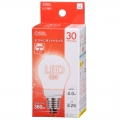 LED電球 30形相当 E26 電球色 広配光 密閉器具対応 [品番]06-0207