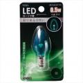 LEDローソク球 E12/0.5W グリーン [品番]06-3208