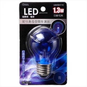LED電球 PSタイプ E26 ブルー [品番]06-3214