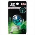 LED電球 装飾用 ミニボール E12 グリーン [品番]06-3224