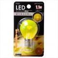 LED電球 装飾用 ミニランプ E17 イエロー [品番]06-3253
