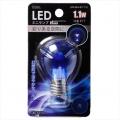 LED電球 装飾用 ミニランプ E17 ブルー [品番]06-3254