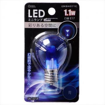 LED電球 ミニランプ S35型 E17 ブルー [品番]06-3254