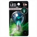 LED電球 装飾用 ミニランプ E17 グリーン [品番]06-3255