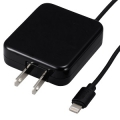 AudioComm ライトニングケーブル一体型 AC充電器 ブラック [品番]01-7029