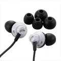 AudioComm ステレオイヤホン 重低音EX-BASS搭載 黒 [品番]03-1638
