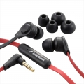 AudioComm iPhone対応ステレオイヤホン マイク付 ブラック [品番]03-1644