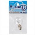 ミニボール球 G30型 E12/10W クリア [品番]04-6482