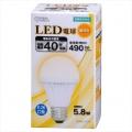 LED電球 40形相当 E26 電球色 [品番]06-3139
