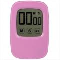 液晶タッチパネル式 デジタルタイマー ピンク [品番]07-6250