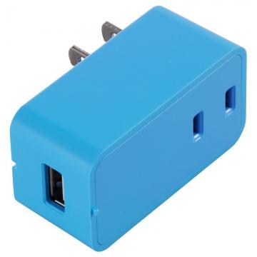 増設できる USBチャージャー ブルー [品番]00-1449