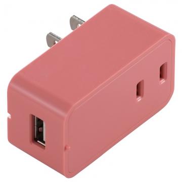 増設できる USBチャージャー ピンク [品番]00-1450