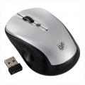ブルーLED ワイヤレスマウス シルバー [品番]01-3579