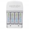 エコルーバ 専用充電器 単3形×4本付き [品番]07-6316