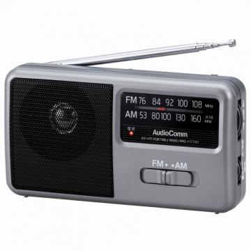 AudioComm AM/FM コンパクトポータブルラジオ [品番]07-9721