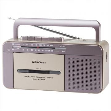 AudioComm AM/FM モノラルラジオカセットレコーダー [品番]07-9728