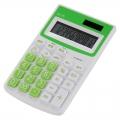 カラー ハンディ電卓 12桁 グリーン [品番]07-9911