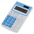 カラー ハンディ電卓 12桁 ブルー [品番]07-9912