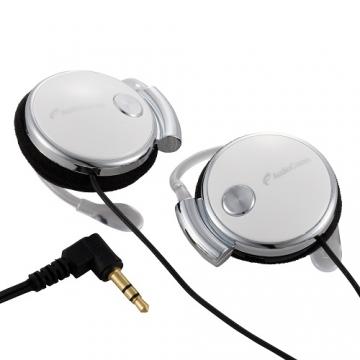 AudioComm ステレオヘッドホン イヤーヘッドタイプ ホワイト [品番]03-1671