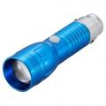 車で充電する LEDライト ズーム ブルー [品番]07-8342