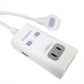 USB 2ポート 2口タッ プ 0.5m [品番]00-1929