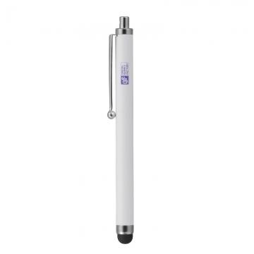 スマートフォン・端末タブレット用タッチペン シンプル ホワイト [品番]01-3475