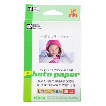 インクジェットプリンター用 光沢紙 L判 100枚 厚口 [品番]01-3682