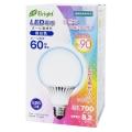 LEDボール球 密閉器具対応 高演色Ra90 E26/8.2W 昼白色 [品番]06-2994