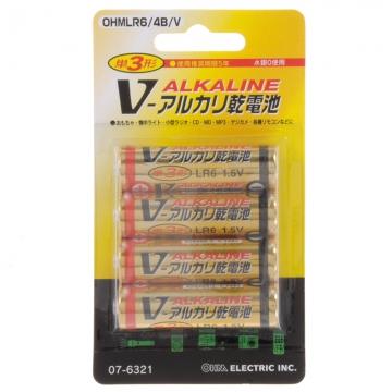 アルカリ乾電池 Vシリーズ 単3形×4本パック [品番]07-6321