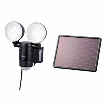 LED ソーラー発電式 センサーライト 2灯 [品番]07-8204