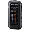 AudioComm AM/FM ライターサイズラジオ ブラック [品番]07-8352