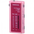AudioComm ライターサイズ ラジオ ピンク [品番]07-9736