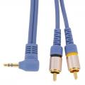 オーディオ接続コード ミニプラグ-ピンプラグ×2 1.5m [品番]01-5021