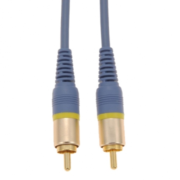 ビデオ接続コード ピンプラグ×1-ピンプラグ×1 2m [品番]01-7563