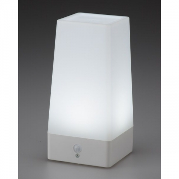 LEDムードライト 人感・明暗センサー 昼光色LED [品番]07-9836