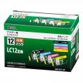 ブラザー LC12対応 4色(顔料ブラック+染料3色)パック [品番]01-3182