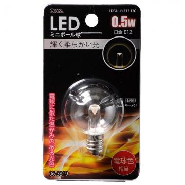 LED電球 装飾用 ミニボール E12 クリア電球色 [品番]06-3219