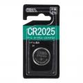 リチウムコイン電池 CR2025 [品番]07-9702